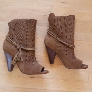 Dolce Vita Suede Ankle Boots with Tassels